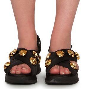 🆕BURBERRY Model ACTONSHIRE Button sandals